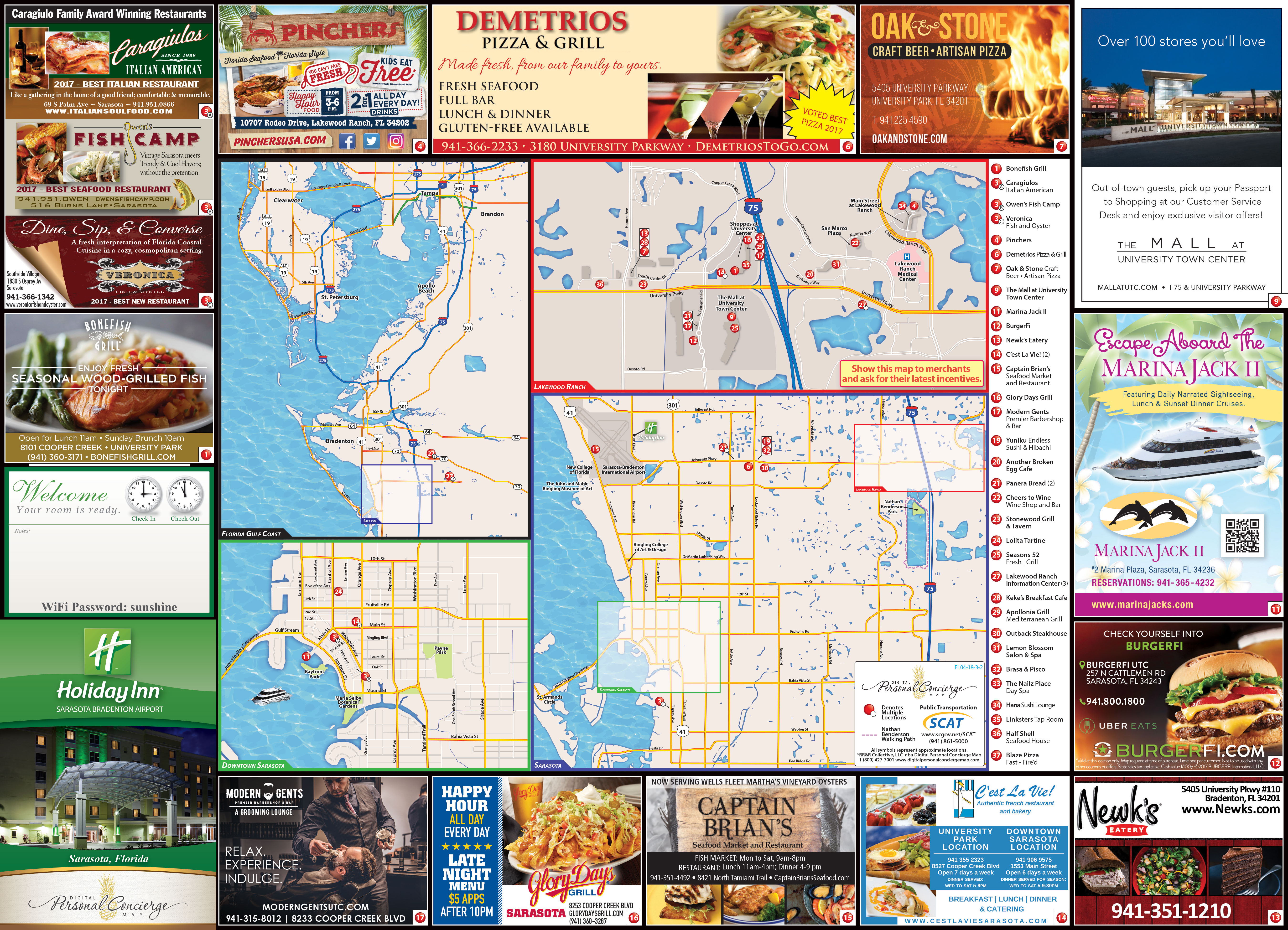 Holiday Inn Sarasota Airport Personal Concierge Maps